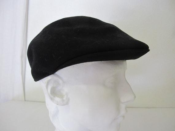Newsboy Cap English Cap Black Wool Cap All Seasons Golf Cap  712f363e2db