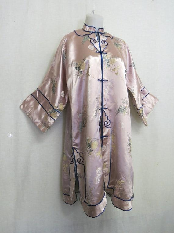 Vintage Chinese Silk Kimono Brocade Kimono Mid Cen