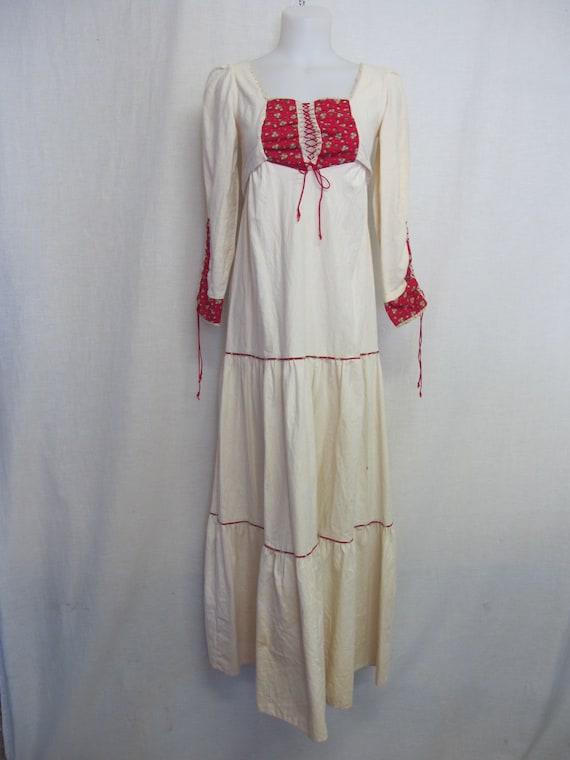 Prairie Dress Steampunk Dress  1960s Hippie Dress… - image 2