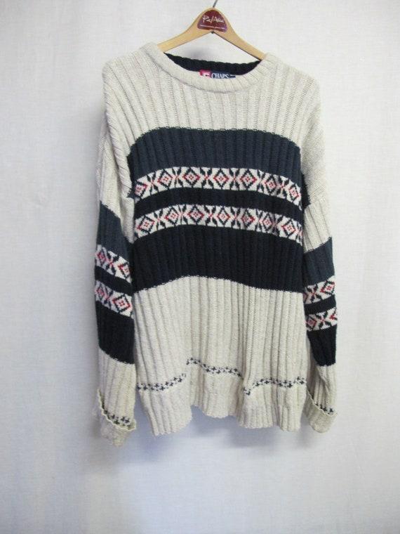 Nordic Sweater Fair Isle Intarsia Bulky Ralph Laur