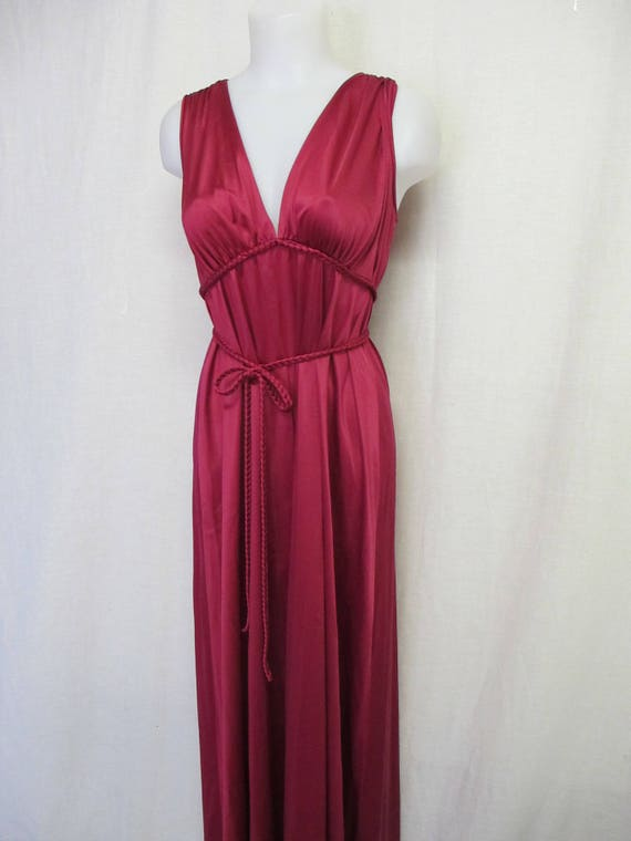Mad Men Nightgown Vanity Fair Marsala Nightgown Fu