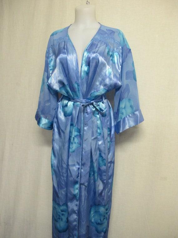 Satin Robe Dressing Gown  Kimono Robe California D