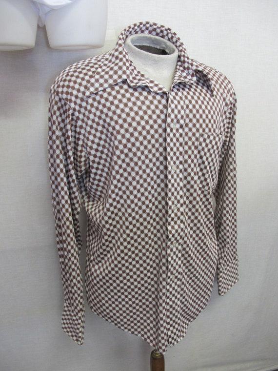 1970s Mod Knit Shirt Ban-Lon Retro Shirt Knit Shir