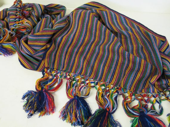 Guatemala Weaving SHAWL Wrap Table Runner
