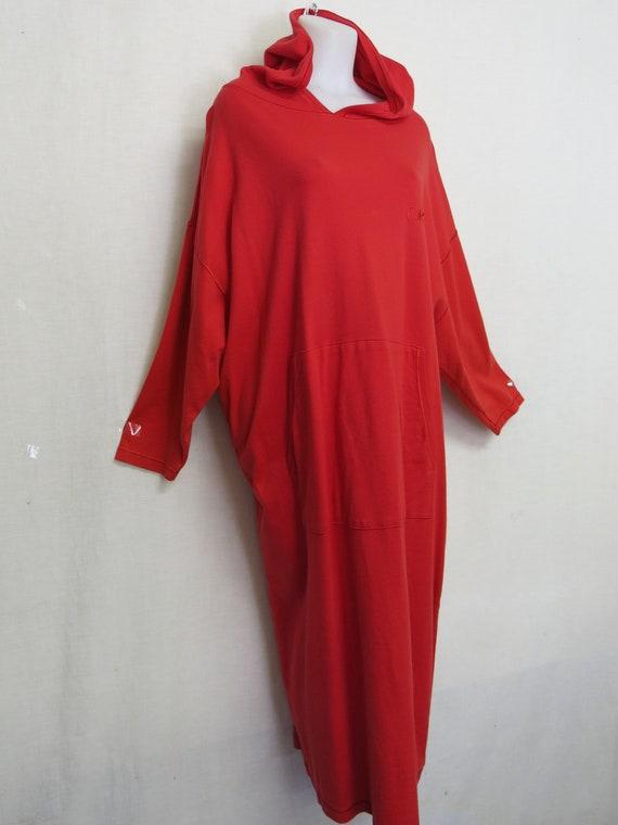 Hoodie Dress Cotton Maxi Hoodie Dress Donna Karan