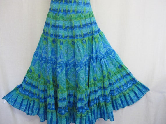Cotton Peasant Skirt Hippie Skirt Cotton Summer Sk