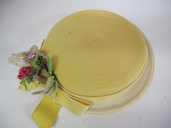 Summer Straw Hat 1960s Mrs Maisel straw Summer Ha… - image 5