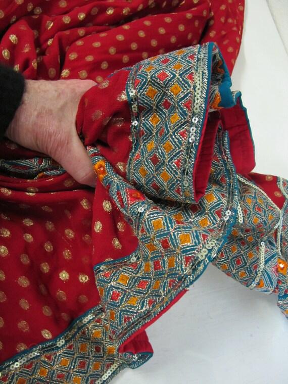 Boho Skirt Hippie Skirt Indian Skirt Metallic Emb… - image 8