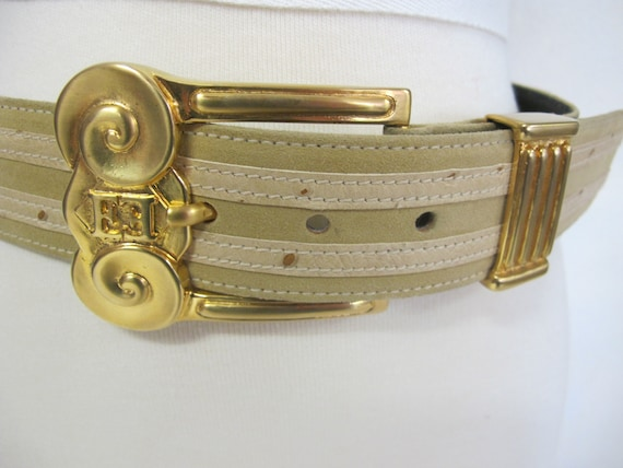 Escada Belt Wide Mod Belt Gold Designer Belt Etrus