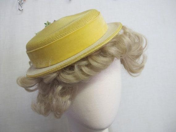 Summer Straw Hat 1960s Mrs Maisel straw Summer Ha… - image 3