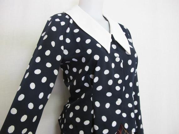 Polka Dot Blouse Designer Liz Claiborne Sissy Big