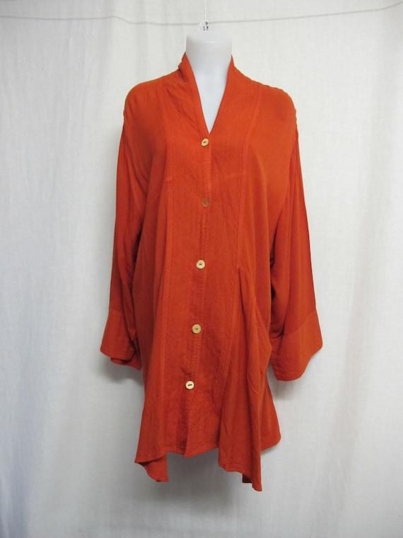 Tunic Jacket Coral Summer Jacket Lagenlook Plus Si