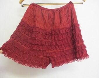 Ruffle Underpants Lace Underpants Red Panties Rockabilly panties