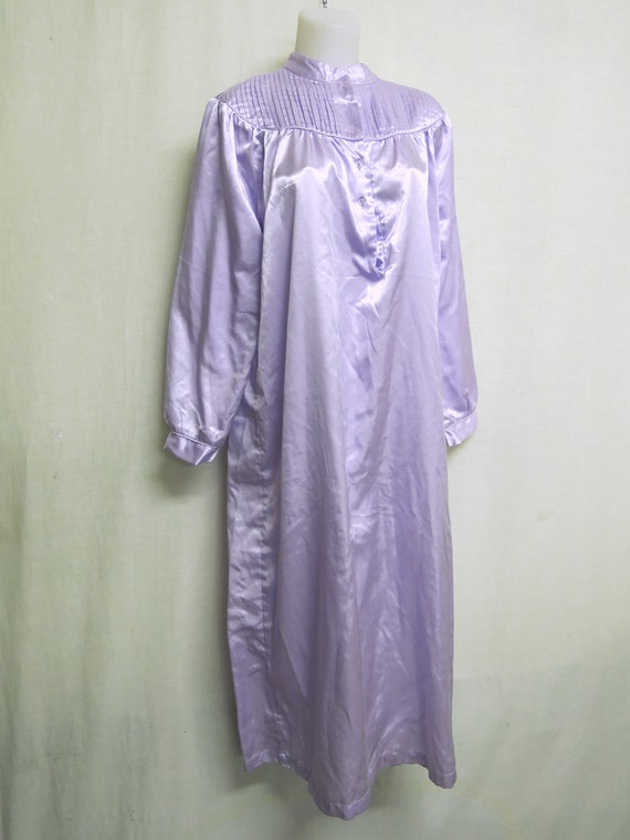 Old Fashioned Satin Nightgown Victorian Style Long