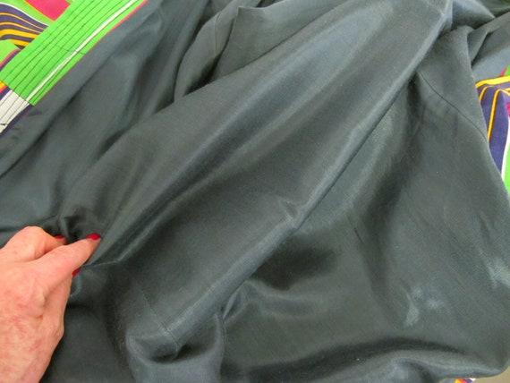 Vintage Silk Kaftan Robe Kimono Style Robe Chapan… - image 6