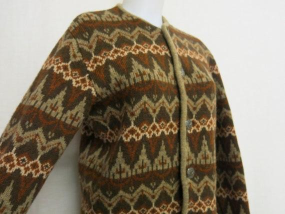 1950 Austrian Cardigan Sweater Ski Sweater Fair Is