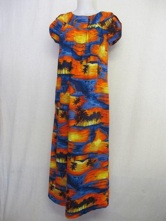 Hawaiian Dress Muumuu Cotton Neon Colors