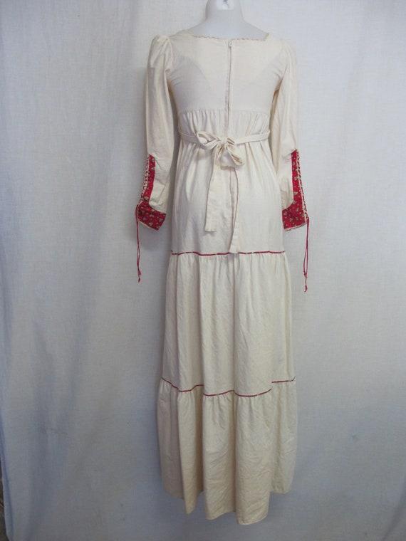 Prairie Dress Steampunk Dress  1960s Hippie Dress… - image 3