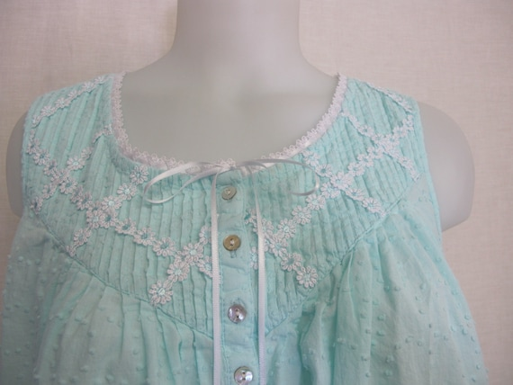 Old Fashioned Nightgown Cotton Dotted Swiss Nightg