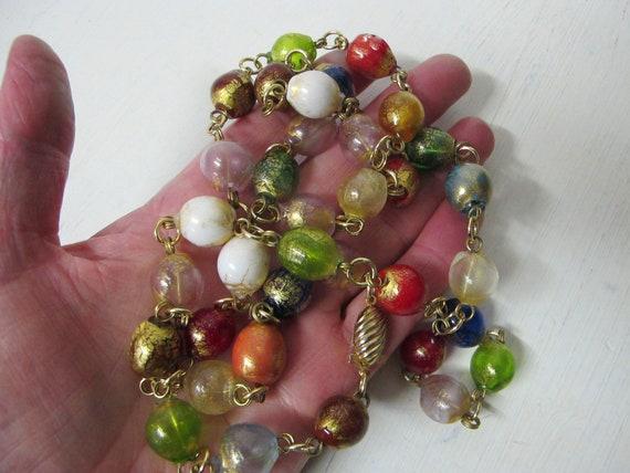 Italian Glass Bead Necklace Italian Lampwork Beads
