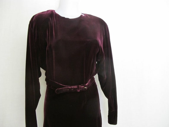 Goth Velvet Dress Maxi  Burgundy Velvet Dress Boh… - image 4