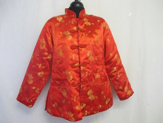 Chinese Quilted Jacket Embroidered Jacket Asian Re