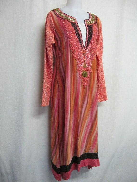 Kurta Tunic Dress Embroidered Dress Indian Dress T