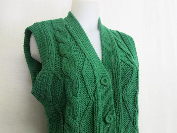 Vintage Handmade Cardigan Sweater Vest Knit Vest … - image 1
