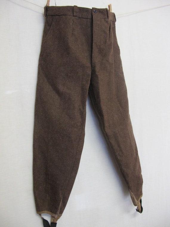 Antique Ski Pants Wool 1920's/30's Ski Pants Butto