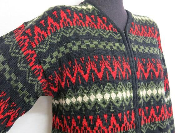 Nordic Cardigan Sweater Ski Sweater Fair Isle Swea