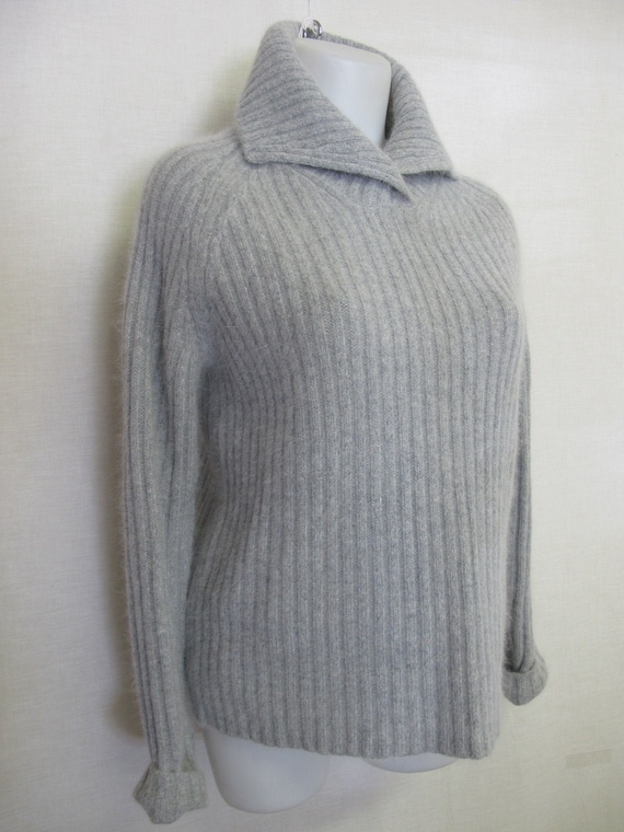 Ladies Italian Knitted Batwing Plait Back Jumper Women Angora Wool Top Plus Size