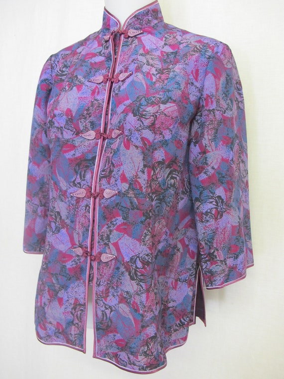 Silk Asian Jacket Chinese Silk Jacket Small