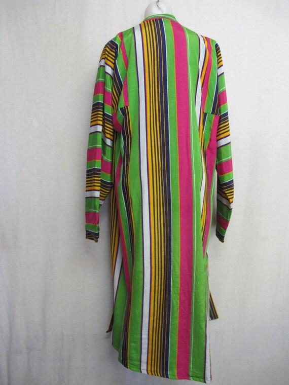 Vintage Silk Kaftan Robe Kimono Style Robe Chapan… - image 10