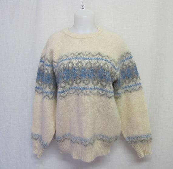 Nordic Sweater Fair Isle Sweater Large Iceland Swe