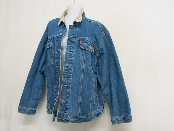 ESPRIT Denim Jean Jacket Distressed Jean Jacket XL