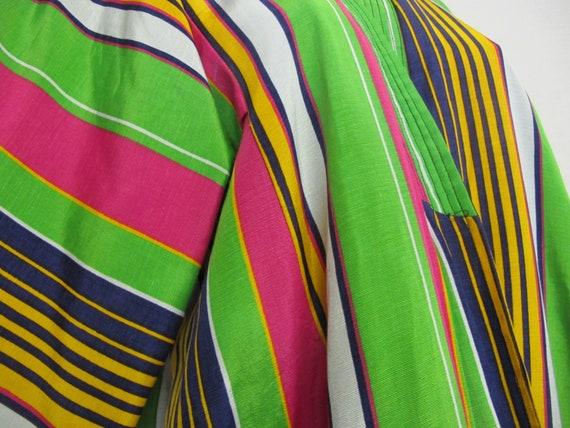 Vintage Silk Kaftan Robe Kimono Style Robe Chapan… - image 8