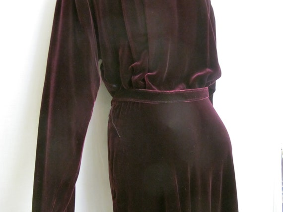 Goth Velvet Dress Maxi  Burgundy Velvet Dress Boh… - image 7