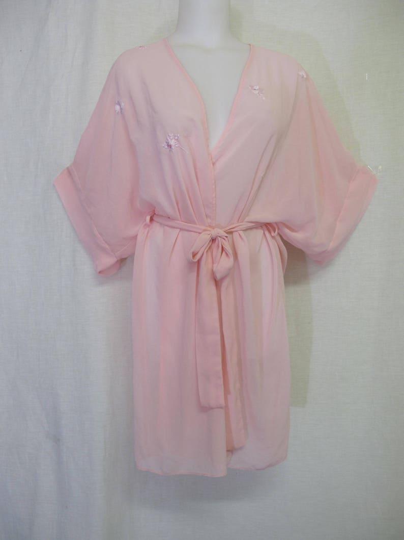 a7425169c2 Pink Chiffon Robe Kimono Robe Sheer Robe Natori Robe Neiman