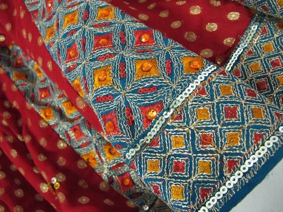 Boho Skirt Hippie Skirt Indian Skirt Metallic Emb… - image 7