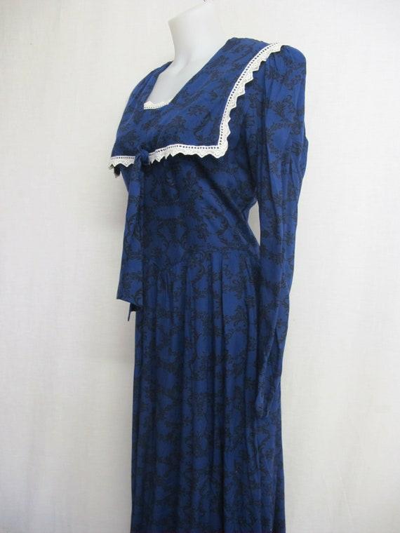 Gunne Sax Prairie Dress Steampunk Dress Pioneer - image 5