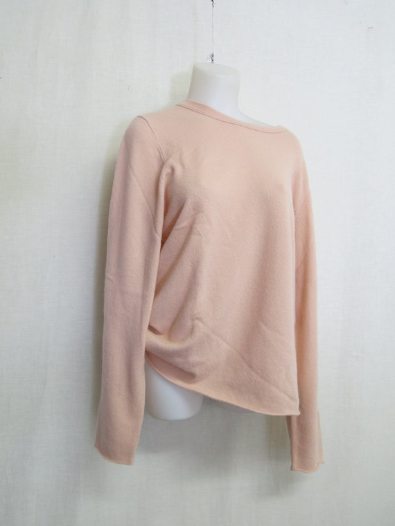 Cashmere Tunic Sweater Pink Cashmere Sweater