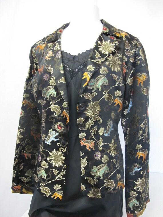 Silk Asian Jacket Chinese Silk Brocade Jacket Meta