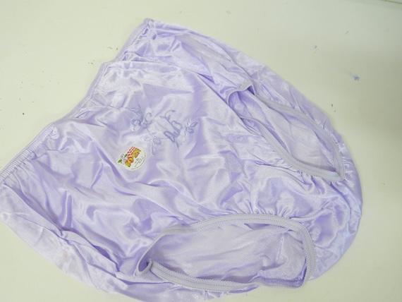 Nylon Lavender Panties Mid Century Panties High Wa
