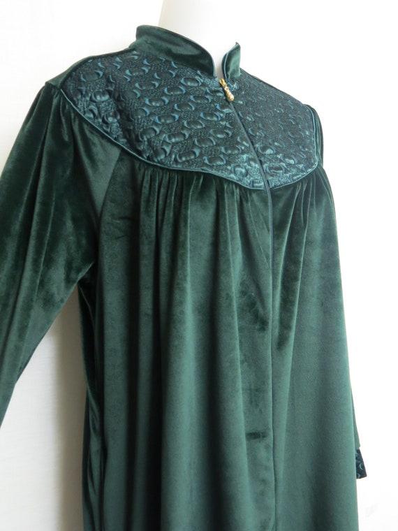 Velvet Robe Dressing Gown Velvet Emerald Green Kaf