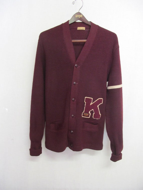 1950s Varsity Sweater Football Letterman Sweater B