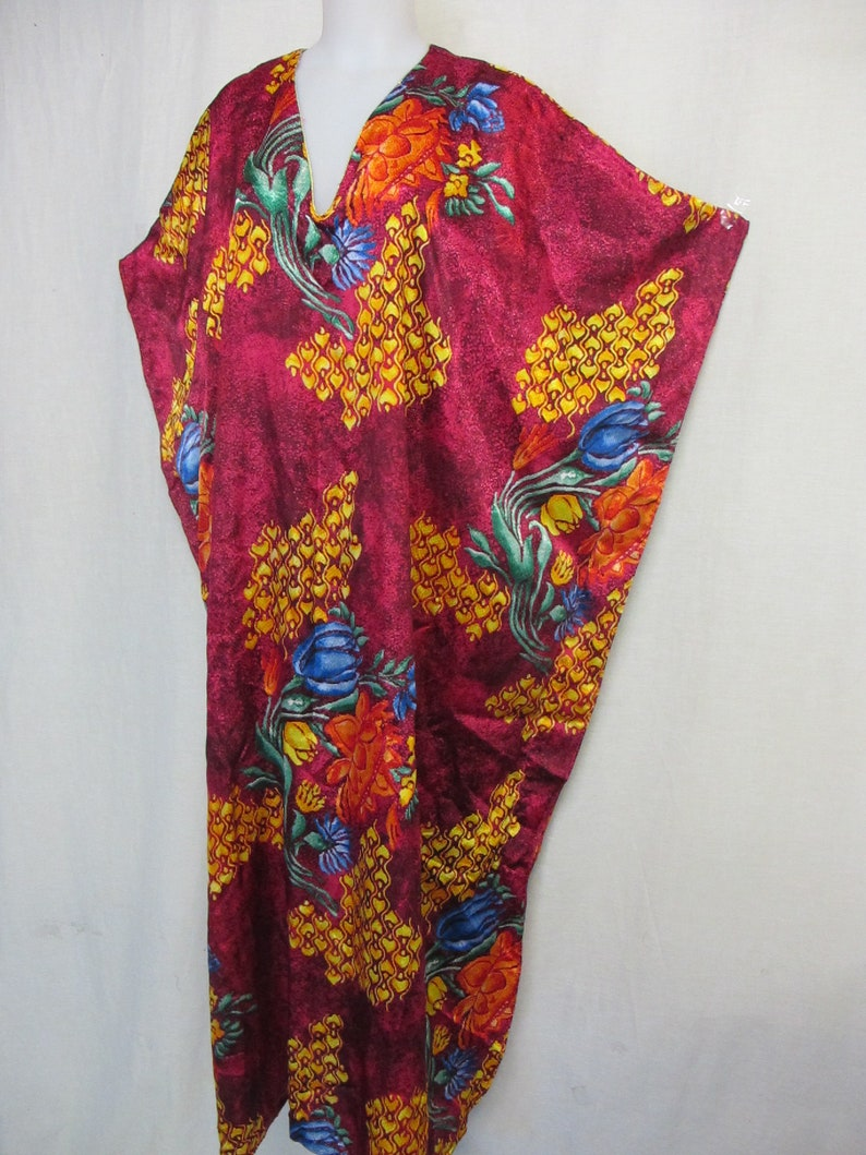 Caftan Plus Size Lounge Wear Boho Caftan Multicolor Tropical Caftan