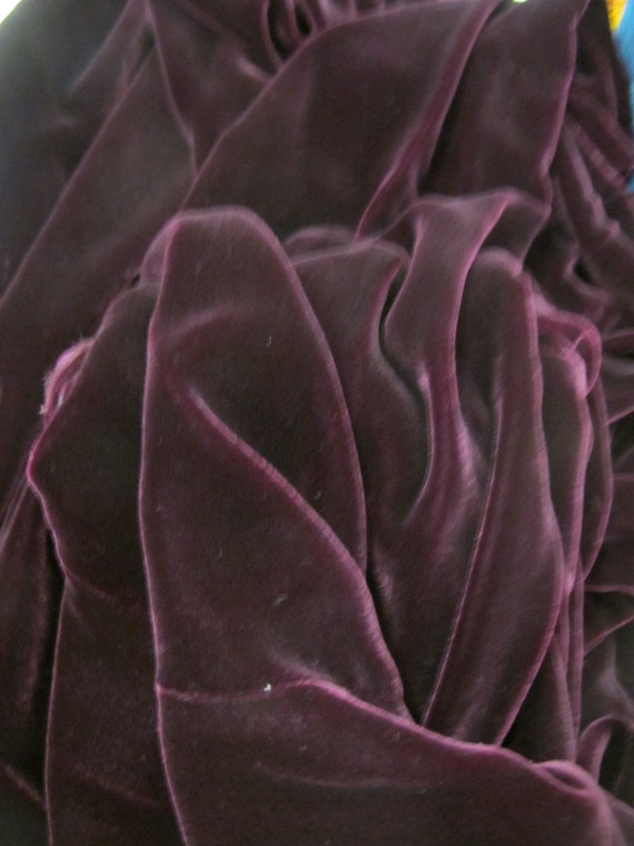 Goth Velvet Dress Maxi  Burgundy Velvet Dress Boh… - image 10