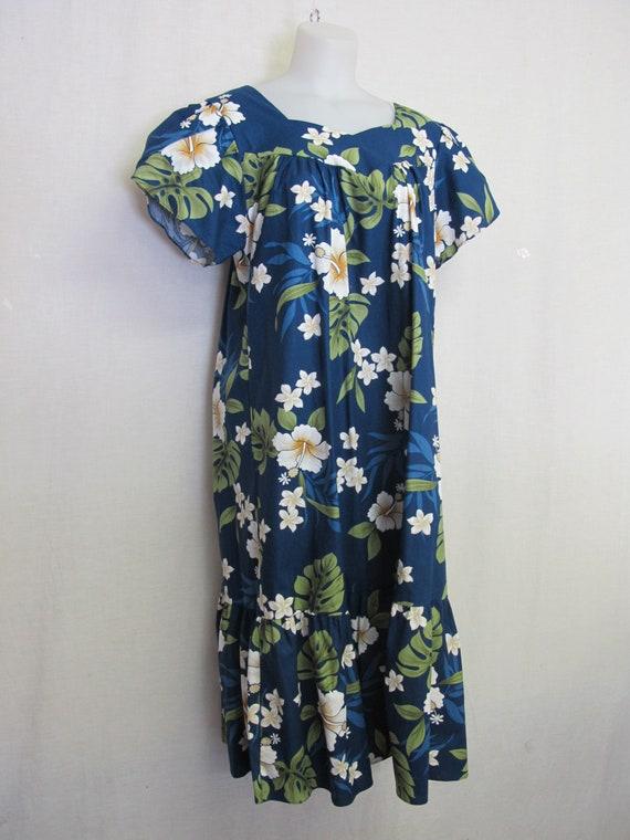 Hawaiian Muumuu Cotton Kaftan House Dress XL