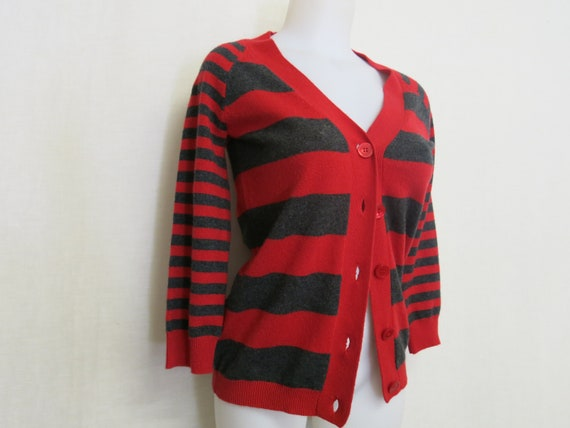 Cashmere Cardigan Sweater Red Cashmere