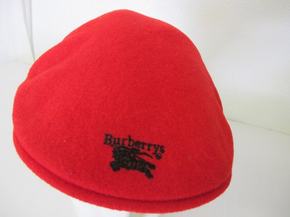 Burberry Wool Cap Red Newsboy Cap Red Wool Cap Golf Cap Mod  977e3d3e7e4